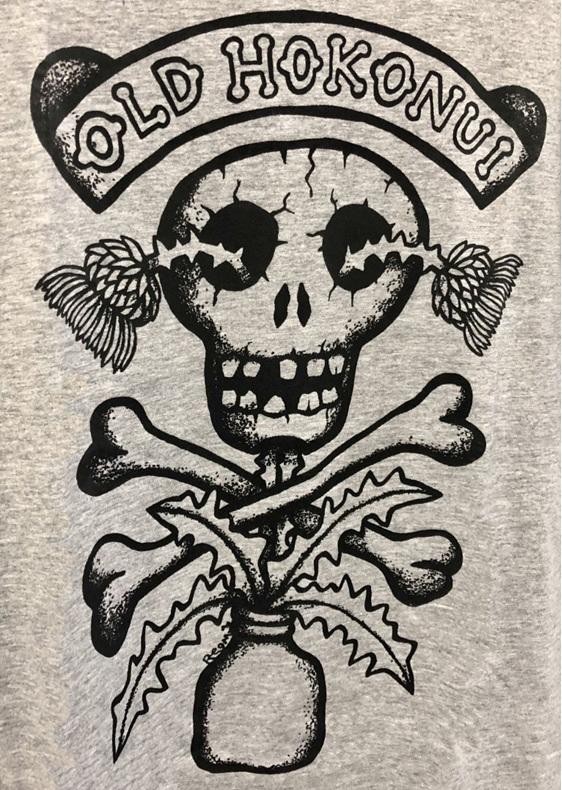 "Hokonui Moonshine T-Shirt Grey Female by Reg Mombassa"""