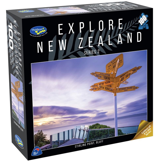 Holdson 100 piece jigsaw puzzle Stirling Point Bluff buy at www.puzzlesnz.co.nz