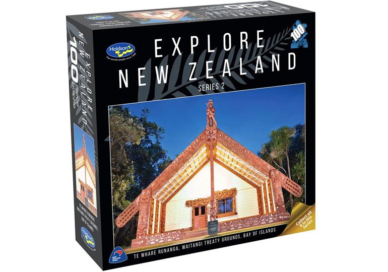 Holdson 100 piece jigsaw puzzle Whare Runanga buy at www.puzzlesnz.co.nz