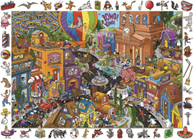 Holdson 100 Piece Jigsaw Puzzle: World In A Hurry