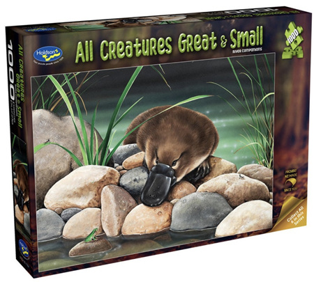 Holdson 1000 Piece Jigsaw Puzzle: All Creatures Great & Small - River Companions