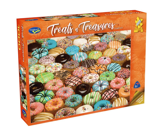 Holdson 1000 piece jigsaw puzzle Doughnuts  buy at www.puzzlesnz.co.nz