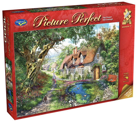 Holdson 1000 Piece Jigsaw Puzzle: Flower Hill Cottage