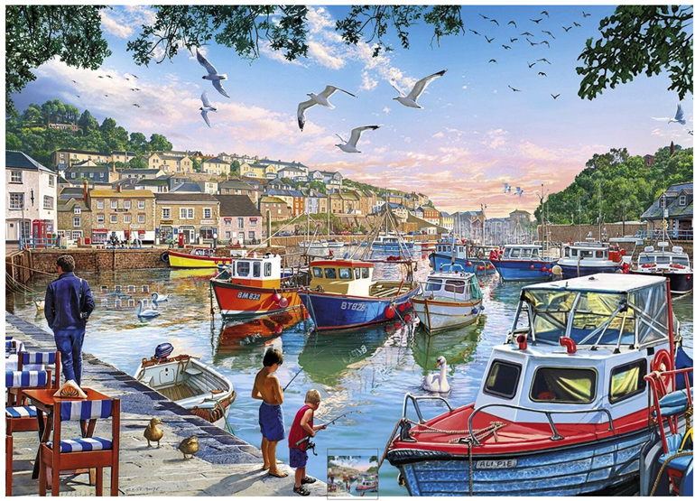 Holdson 1000 Piece Jigsaw Puzzle Harbour Boats at www.puzzlesnz.co.nz