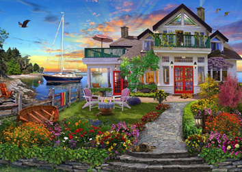 Holdson 1000 Piece Jigsaw Puzzle: Home Sweet Home 2: Coastal Escape