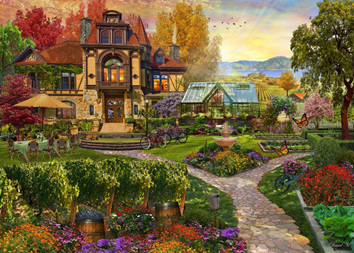 Holdson 1000 Piece Jigsaw Puzzle: Home Sweet Home 2: Vineyard Retreat