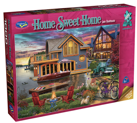 Holdson 1000 Piece Jigsaw Puzzle: Home Sweet Home S3 - Lake Boathouse
