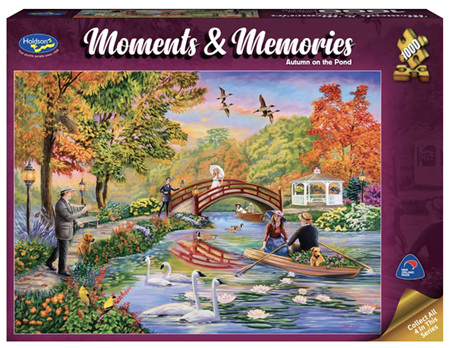 Holdson 1000 Piece Jigsaw Puzzle: Moments & Memories - Autumn On The Pond