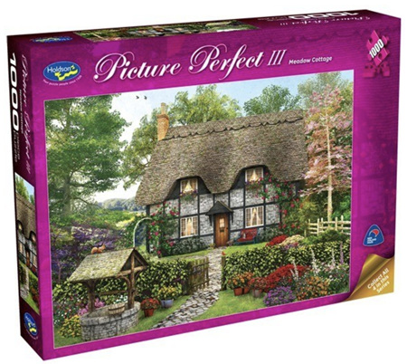 Holdson 1000 Piece Jigsaw Puzzle: Picture Perfect 3 - Meadow Cottage