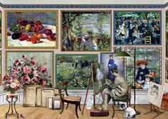 Holdson 1000  Piece Jigsaw Puzzle: Renoir At Work