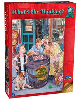 Holdson 1000 Piece Jigsaw Puzzle: Sidewalk Checkers