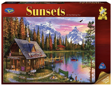 Holdson 1000 Piece Jigsaw Puzzle: Sunsets - At The Fishing Hut