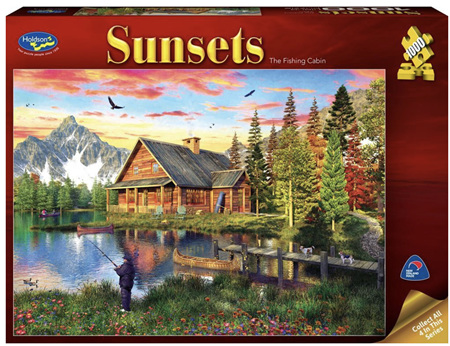 Holdson 1000 Piece Jigsaw Puzzle: Sunsets - The Fishing Cabin