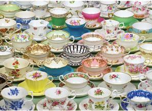 Holdson's 1000 Piece Jigsaw Puzzle: Teacups