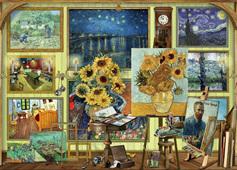 Holdson 1000  Piece Jigsaw Puzzle: Van Gogh Studio
