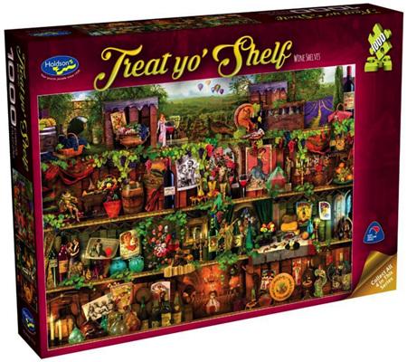 Holdson 1000 Piece Jigsaw Puzzle: Wine Shelves