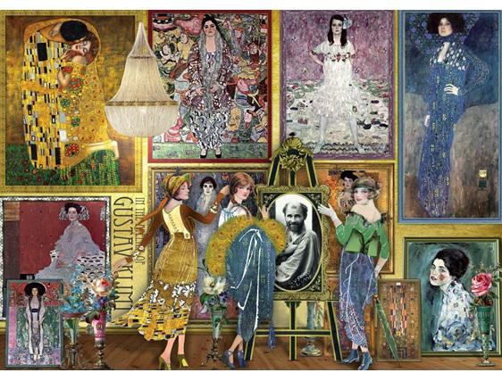 Holdson 1000 piece puzzle Gustav Klimpt Gallery buy  at www.puzzlesnz.co.nz