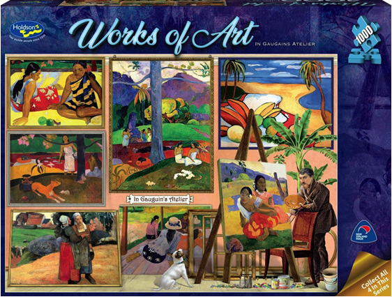Holdson 1000 piece puzzle In Gauguins Atelier buy  at www.puzzlesnz.co.nz