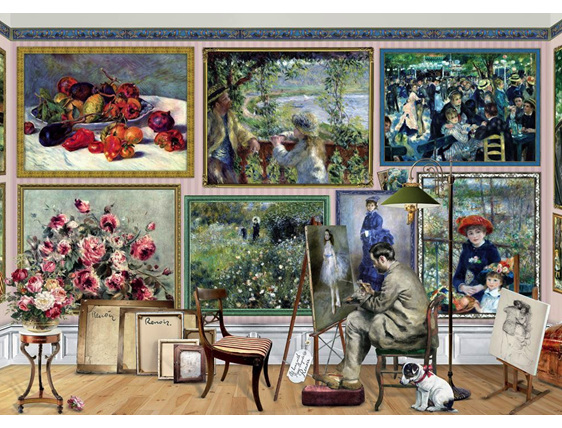 Holdson 1000 piece puzzle Renoir at work buy  at www.puzzlesnz.co.nz