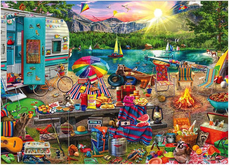 Holdson 1000 piece puzzle The Family Campsite at www.puzzlesnz.co.nz