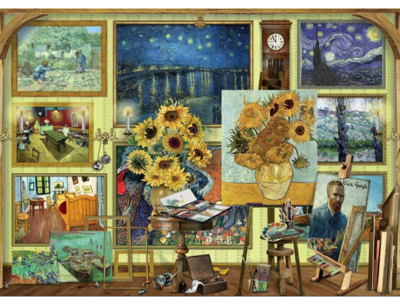 Holdson 1000 piece puzzle Van Gogh Studio  buy  at www.puzzlesnz.co.nz