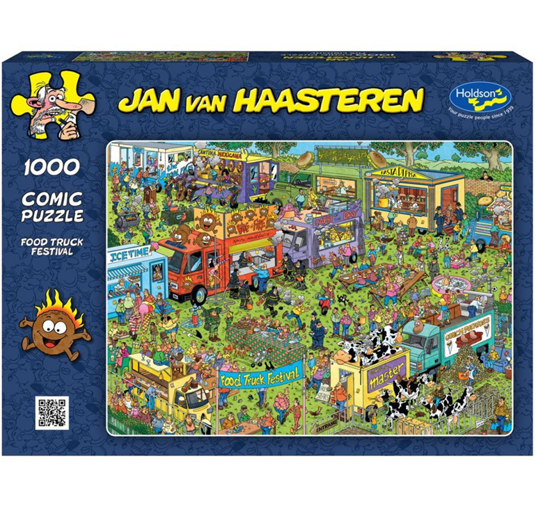 Holdson 1000 piece puzzle Van Haasterten Food Truck  buy at www.puzzlesnz.co.nz