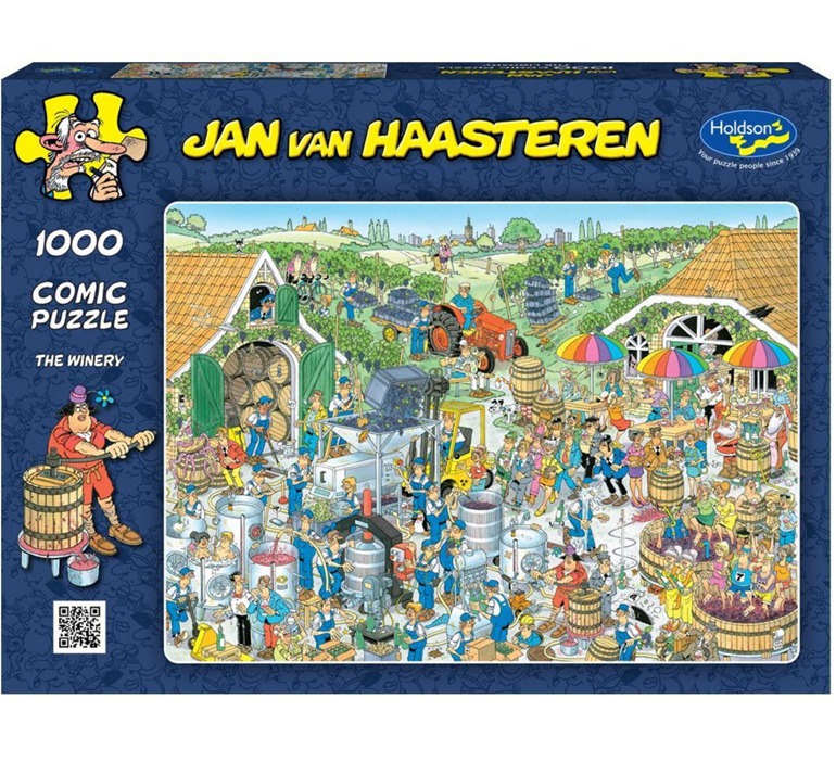 Holdson 1000 piece puzzle Van Haasterten The Winery buy at www.puzzlesnz.co.nz