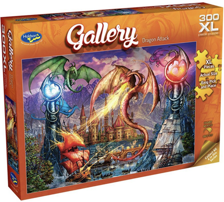Holdson 300 XL Piece Jigsaw Puzzle: Dragon Attack