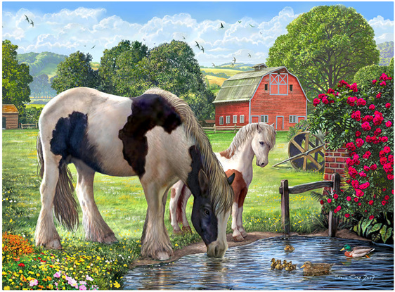 Holdson 300 XL Piece Jigsaw Puzzle: Hadlow Mare Foal buy at www.puzzlesnz.co.nz