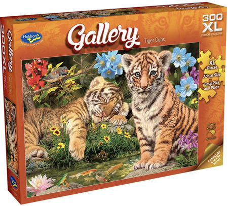 Holdson 300 XL Piece Jigsaw Puzzle: Tiger Cubs
