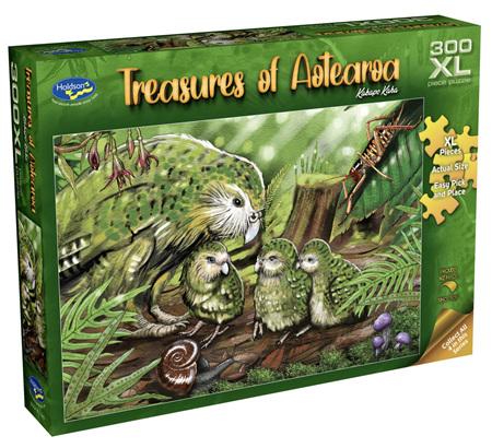 Holdson 300 XL Piece Jigsaw Puzzle: Treasures of Aotearoa - Kakapo Kaha