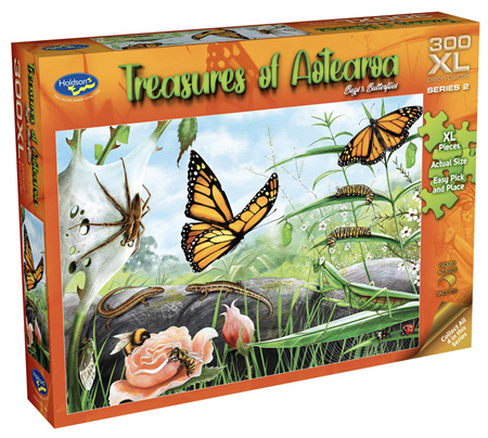Holdson 300 XL Piece Jigsaw Puzzle: Treasures of Aotearoa - Bugs & Butterflies