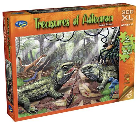 Holdson 300 XL Piece Jigsaw Puzzle: Treasures of Aotearoa - Tuatara Twosome