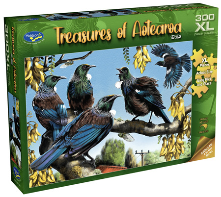 Holdson 300 XL Piece Jigsaw Puzzle: Treasures of Aotearoa - Tui Talk