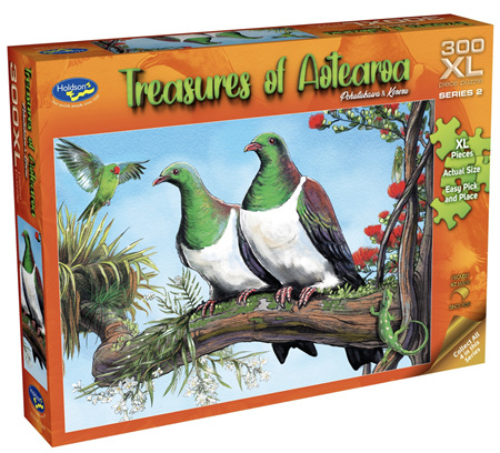 Holdson 300 XL Piece Jigsaw Puzzle: Treasures of Aotearoa - Pohutukawa & Kereru