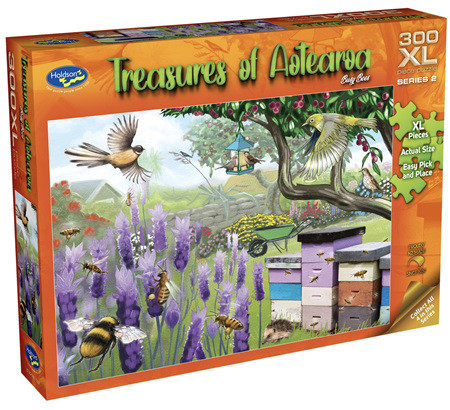 Holdson 300 XL Piece Jigsaw Puzzle: Treasures of Aotearoa - Busy Bees