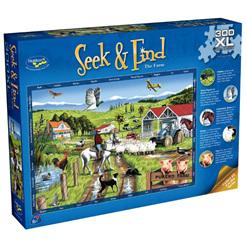 Holdson 300XL Piece Jigsaw Puzzle: Seek & Find - The Farm