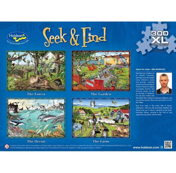 Holdson 300XL Piece Jigsaw Puzzle Seek & Find The Farm at www.puzzlesnz.co.nz