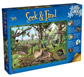 Holdson 300XL Piece Jigsaw Puzzle: Seek & Find - The Forest