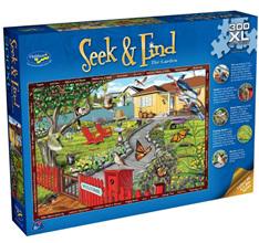 Holdson 300XL Piece Jigsaw Puzzle: Seek & Find - The Garden
