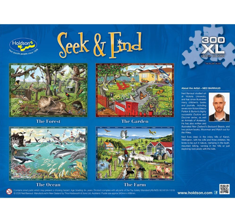 Holdson 300XL Piece Jigsaw Puzzle: Seek & Find The Ocean at www.puzzlesnz.co.nz