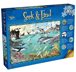 Holdson 300XL Piece Jigsaw Puzzle: Seek & Find - The Ocean