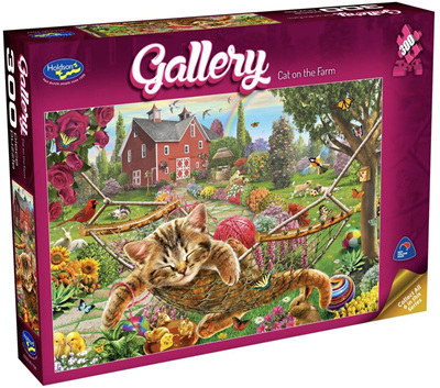 Holdson's 300 Piece Jigsaw Puzzle: Cat On The Farm