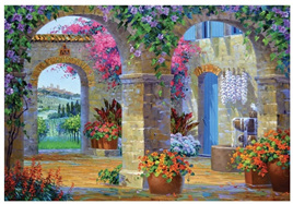 Holdson 500 Piece Jigsaw Puzzle Glimpse Of Tuscany