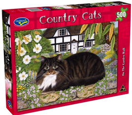 Holdson 500  Piece Jigsaw Puzzle:  On The Garden Wall