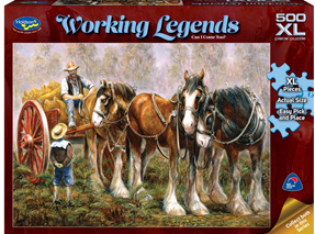 Holdson 500XL Piece Jigsaw Puzzle: Working Legends - Can I Come Too