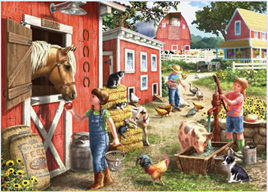 Holdson 500 XL Piece Jigsaw Puzzle Farmhouse Chores