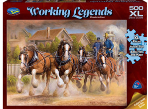 Holdson 500XL Piece Jigsaw Puzzle: Working Legends - Firestorm Hour