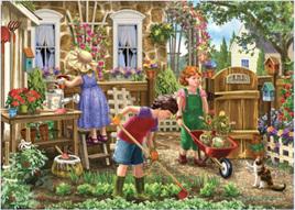Holdson 500 XL Piece Jigsaw Puzzle Gardening Fun