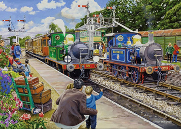 Holdson 500XL Piece Jigsaw Puzzle: HORSTED KEYNES ON THE BLUEBELL RAILWAY
